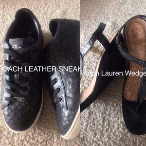New COACH Sneakers • Ralph Lauren Wedges • Size 11 • Designer Shoes • Sandals • Heels for Sale in Washington, DC
