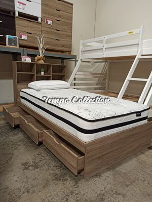 Twin 3 Drawer Chest Bed, Dark Taupe, SKU# IDY1401/2TC for Sale in Norwalk, CA