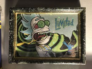 Rick and morty art print with custom frame for Sale in Queens, NY