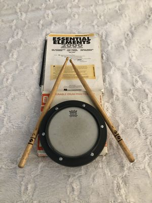 Drum pad, Drum Sticks and Percussion Book for Sale in Temple City, CA