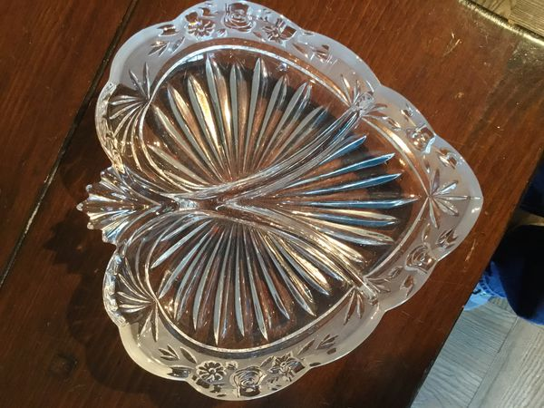 Heart shaped candy dish, excellent condition, 8 inches by 8 inches,