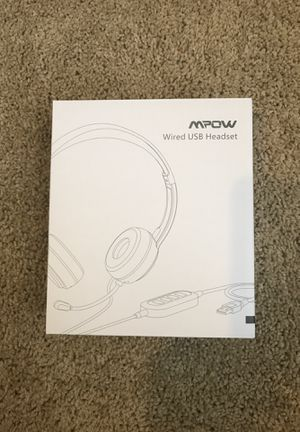 MPOW Wired USB Headset for Sale in Dudley, NC