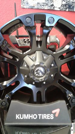 Matte black fuel rims for Sale in San Antonio,  TX