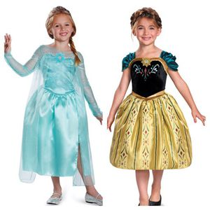 Frozen Elsa & Anna Dress Up Costumes Size 4-6X for Sale in Concord, MA