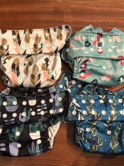 Cloth Diapers Stay Dry Bamboo Cotton AIOs HHFC Brand VGUC for Sale in Gladstone,  OR