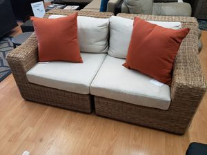 New 2pc outdoor patio furniture loveseat sunbrella fabric tax included for Sale in Hayward, CA