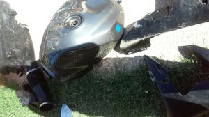 Motorcycle parts too many to list vrakes gaskets gas cap gas lid etc plastics springs shocks for Sale in Mesa, AZ