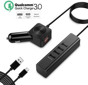 Car Charger, 60W 12A Aluminum Multiple 6-Port USB Car Charger Quick Charge 3.0 for Sale in Fontana, CA