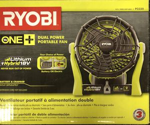 Ryobi One + Dual Power Portable Fan( Tool Only) for Sale in West Chicago, IL