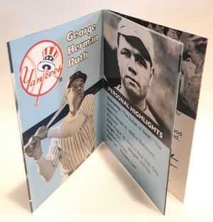 Mint Babe Ruth 1990 Collect a Book Baseball Trading Card - New York Yankees- Completely Intact - 30 years old! for Sale in San Jose, CA