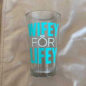 New Wifey For Lifey Glass Cup Wedding Wife Bachelorette for Sale in Fremont, CA