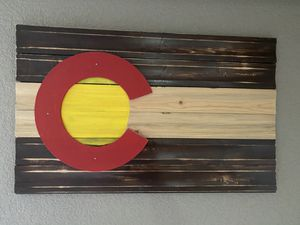 Colorado state flag wooden decor for Sale in Littleton, CO