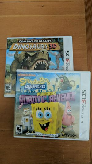 3DS Kids Games - SpongeBob and Dinosaurs 3D for Sale in Seattle, WA
