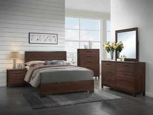 4pcs queen size bedroom set $459, 4pcs king bed room set $499 (1 bed frame +1 night Stand +1 Mirror +1 Dresser) for Sale in Los Angeles, CA
