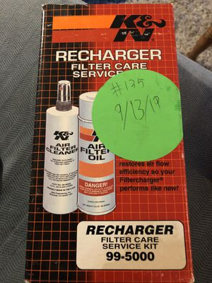 K&N 99-5000 Aerosol Recharger Filter Care Service Kit Car Parts Auto Care Cleaner for Sale in Tampa, FL