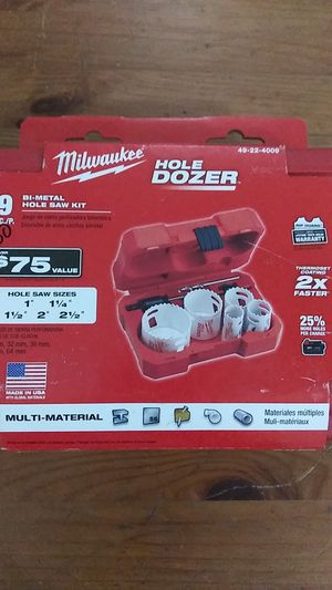 Milwaukee hole Dozer 9 Piece for Sale in Newton, MA