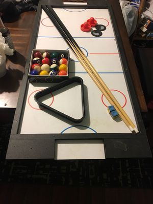 Miniature pool table with air hockey topbored for Sale in Baltimore, MD
