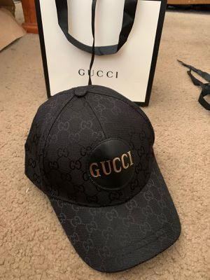 Gg black monogram canvas hat for Sale in Milpitas, CA