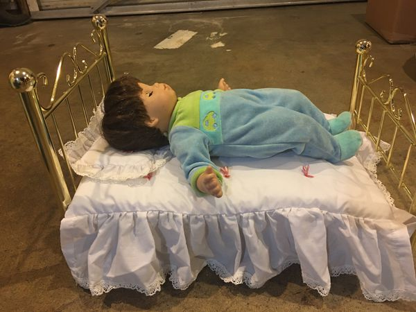 American girl doll Samantha Brass bed