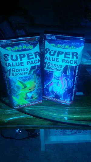 Super Value Pack Evolutions Pokemon cards with extra booster packs and breakthrough collection for Sale in Phelan, CA