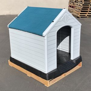 $140 (new in box) waterproof plastic dog house for x-large size pet indoor outdoor cage kennel 42x40x45 inches for Sale in Santa Fe Springs, CA