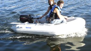 """Aquastar 8'9"""" inflatable boat with wood floors- brand new for Sale in Las Vegas, NV"""