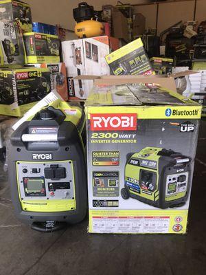 RYOBI Bluetooth 2,300 Starting Watt Super Quiet Gasoline Powered Digital Inverter Generator for Sale in Garden Grove, CA