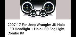 07 ,17 Jeep Wrangler headlights and fog lights kit for Sale in Litchfield Park, AZ