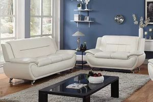 New White faux leather Sofa and Loveseat for Sale in South Hill, WA