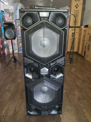 "Powerful Bass Bluetooth Mega Speaker Bocina Nueva Super Bajo 🔊🔊💥 Dual 15"" LED Lights / USB / MICRO SD CARD / FM RADIO 📻 . 📦 for Sale in Los Angeles, CA"
