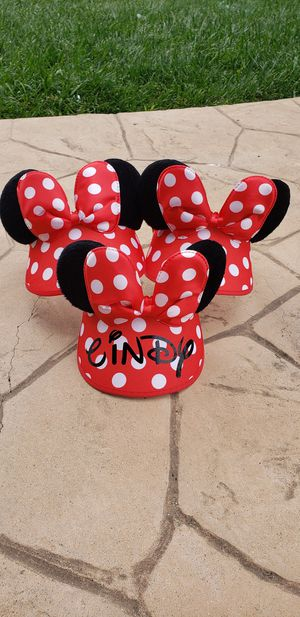 custom mickey minnie mouse ears kids and youth size for Sale in Vista, CA