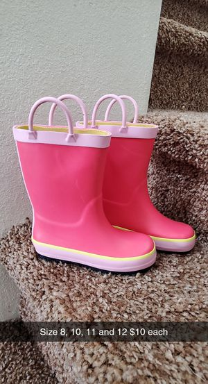 Brand new girls rainboots size 8, 10, 11 & 12 for Sale in Salem, OR