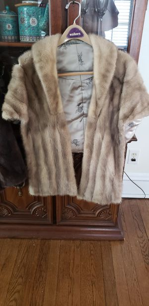 Tan Fur Shawl for Sale in Akron, OH