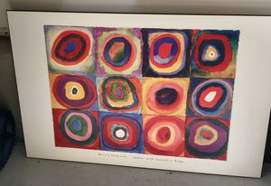 Kandinsky print on hardboard 36x 25 for Sale in Apex, NC