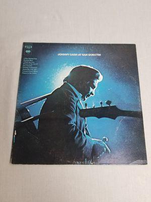 JOHNNY CASH At San Quentin Vinyl LP 1969 CS 9827 Record Album for Sale in Tiverton, RI