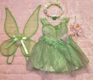 Disney Tinkerbell Costume, wings, headpiece and wand. Size XS (4) for Sale in Los Angeles, CA