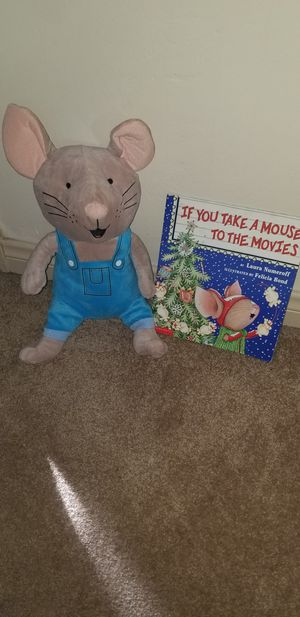 Give a mouse a cookie plush toy and book for Sale in Bakersfield, CA
