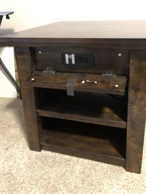 Pair of end tables. Almost new. Have power outlets and USB chargers. Storage shelves. Great condition. for Sale in Ruston, WA
