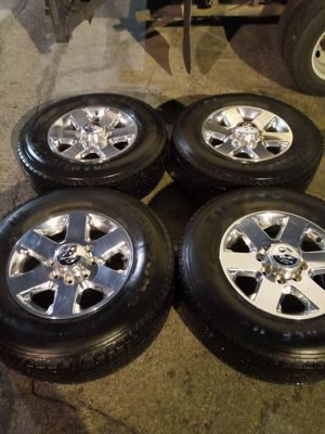 Dodge 8 lug wheels and tires for Sale in Covina, CA