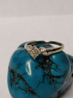 14k white gold diamond size 6 ring for Sale in Willow Street, PA