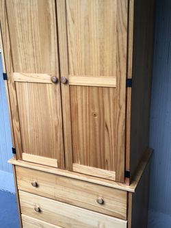 Free Solid Pine Wardrobe/Cabinet for Sale in Normandy Park,  WA