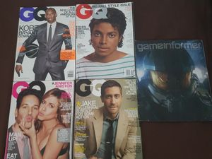 GQ magazines for sale good condition be cash app or Zelle ready for Sale in Brandon, FL