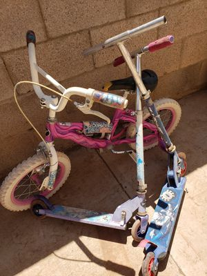 16in bike 2 scooters all for 20.00 for Sale in Phoenix, AZ