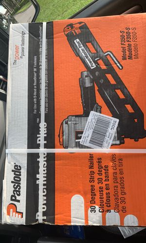 """Paslode F350-S PowerMaster Plus 3-1/4"""" Clipped & Round Head 30° Strip Nailer for Sale in Miami, FL"""