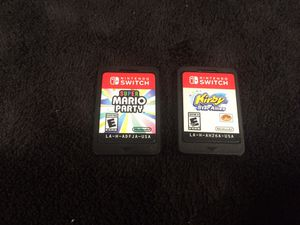 Nintendo Switch Games, Super Mario Party, Kirby Star Allies, 30$ each, *Super Mario Party SOLD for Sale in Battle Ground, WA
