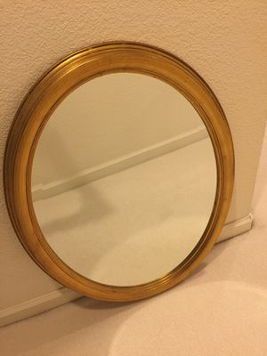 Bombay Gold Leaf Oval Wall Mirror for Sale in Dublin, CA