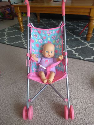 Doll with stroller for Sale in Dublin, OH