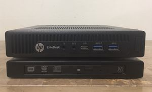 Micro Tiny HP Elitedesk Core i5 Corei5 8GB RAM 256GB NVMe SSD DVD RW Windows 10 Dual display desktop computer for Sale in Pembroke Pines, FL