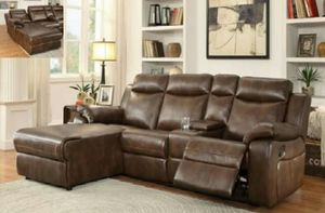 Nee Brown Recliner Sectional for Sale in Austin, TX
