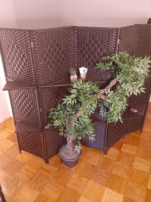 11 FEET Long & 6 ft Tall (Extra Wide) Wall divider and folding Privacy Screen Walls, With 2 Display shelves Available for pickup week of June 15th for Sale in Washington, DC